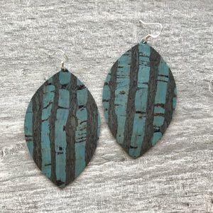 Jewelry - 🔵Wide Marquis Handmade Cork-Style Earrings